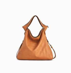 Rei Convertible Shoulder Bag | Tan - A R A M L E E ® Convertible Transformable Italian Leather Handbag Backpack Purse