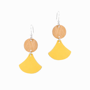 Dancer Earrings | Yellow - A R A M L E E ® Convertible Transformable Italian Leather Handbag Backpack Purse