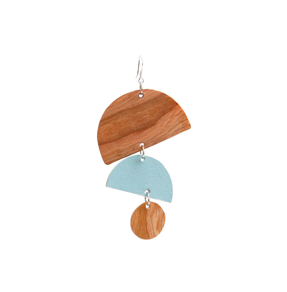 Little Moons Earrings | Misty Sky - A R A M L E E ®