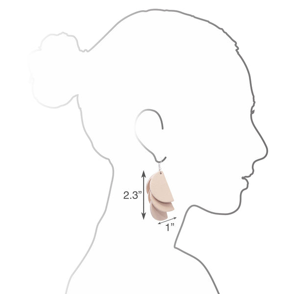 Madeline Earrings | Blush - A R A M L E E ®