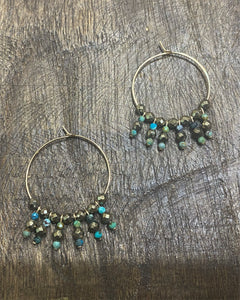 Turquoise earrings charms