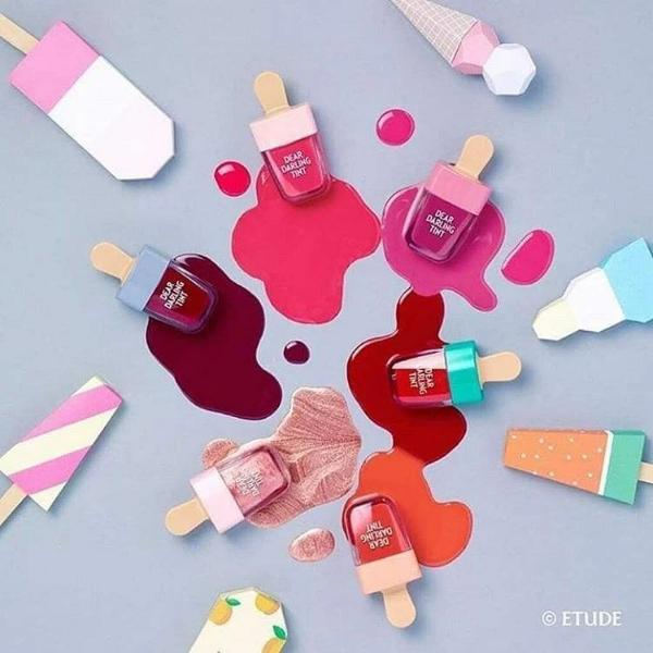 Etude House. Dear Darling Water Gel Tint Ice Cream [#PK004 Red Bean Red] TINT - Lady Bonita