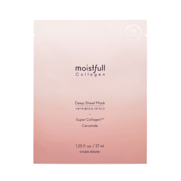 Etude House. Moistfull Collagen Deep Sheet Mask SHEET MASK - Lady Bonita