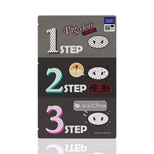 Holika Holika. Pig Nose Clear Blackhead 3 Step Kit Strong EXFOLIATOR - Lady Bonita