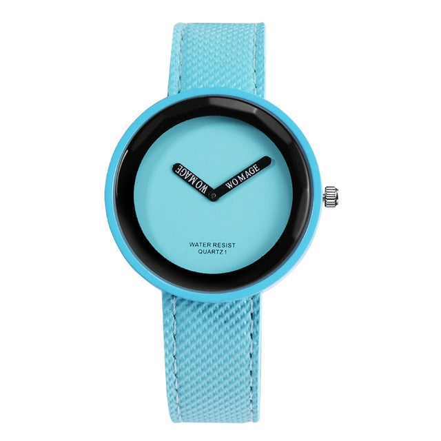 Hot Sale Fashion kid's Watches Leather Ladies Watch kids Watches Young Girl Watch Simple Clock