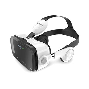 Original  Leather 3D Cardboard Helmet Virtual Reality VR Glasses Headset Stereo for 4-6' Mobile Phone