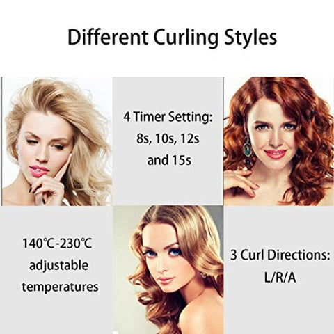 Image of LCD Professional automatic Hair Curler Styling Tools  Female curlers curling Wand Ceramic Heating Care Wave curl iron Anti-perm