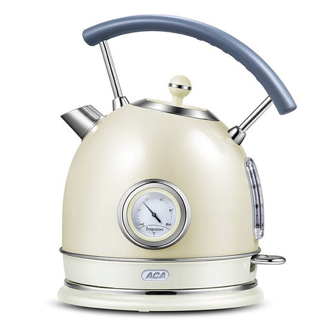 Image of Electric kettle household kettle heat preservation 304stainless steel anti-dry burning retro small