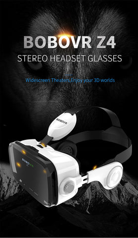 Image of Original  Leather 3D Cardboard Helmet Virtual Reality VR Glasses Headset Stereo for 4-6' Mobile Phone