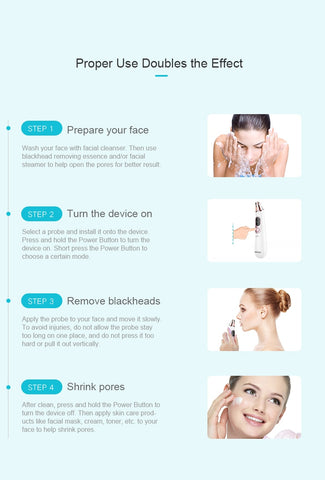 Blackhead remover,Skin Care Pore Vacuum Acne Pimple Removal Vacuum Suction Tool Facial Diamond Dermabrasion Machine Face Clean