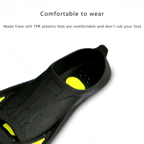 Image of Snorkeling Diving Swimming Fins Adult/kids Flexible Comfort Swimming Fins Submersible Foot Children Fins Flippers Water Sports