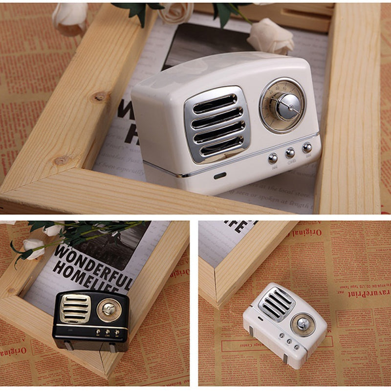 New Style Mobile Phone Bluetooth Speaker Innovative Radio Retro Portable Mini Wireless Bluetooth Speaker Loudspeaker Speakers