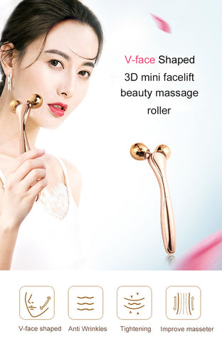 3D Roller Face Lifting Artifact Y Shaped Beauty Roller Massager Anti-cellulite Full Body Slimming Device Facial Wrinkle Remover