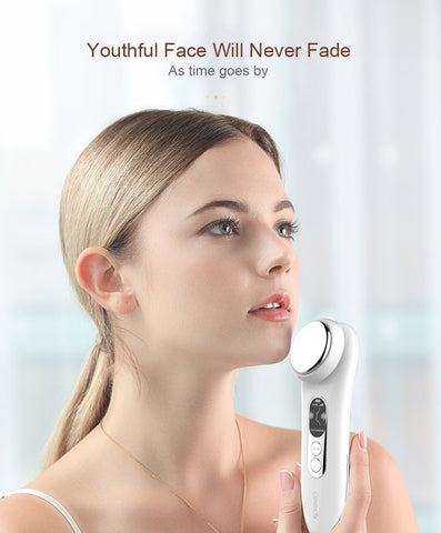 Electric Anti-aging Machine, Ultrasonic Facial Beauty Device Ionic Face Cleaner Anti Wrinkle Removal Skin Lift Massager Dropping