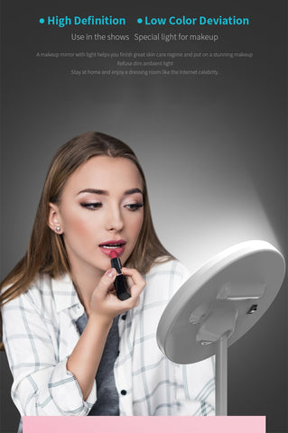 LED Makeup Mirror Rechargeable Brightness Adjustable LED HD Makeup Daylight Mirror Mijia Makeup Mirror Cosmetics