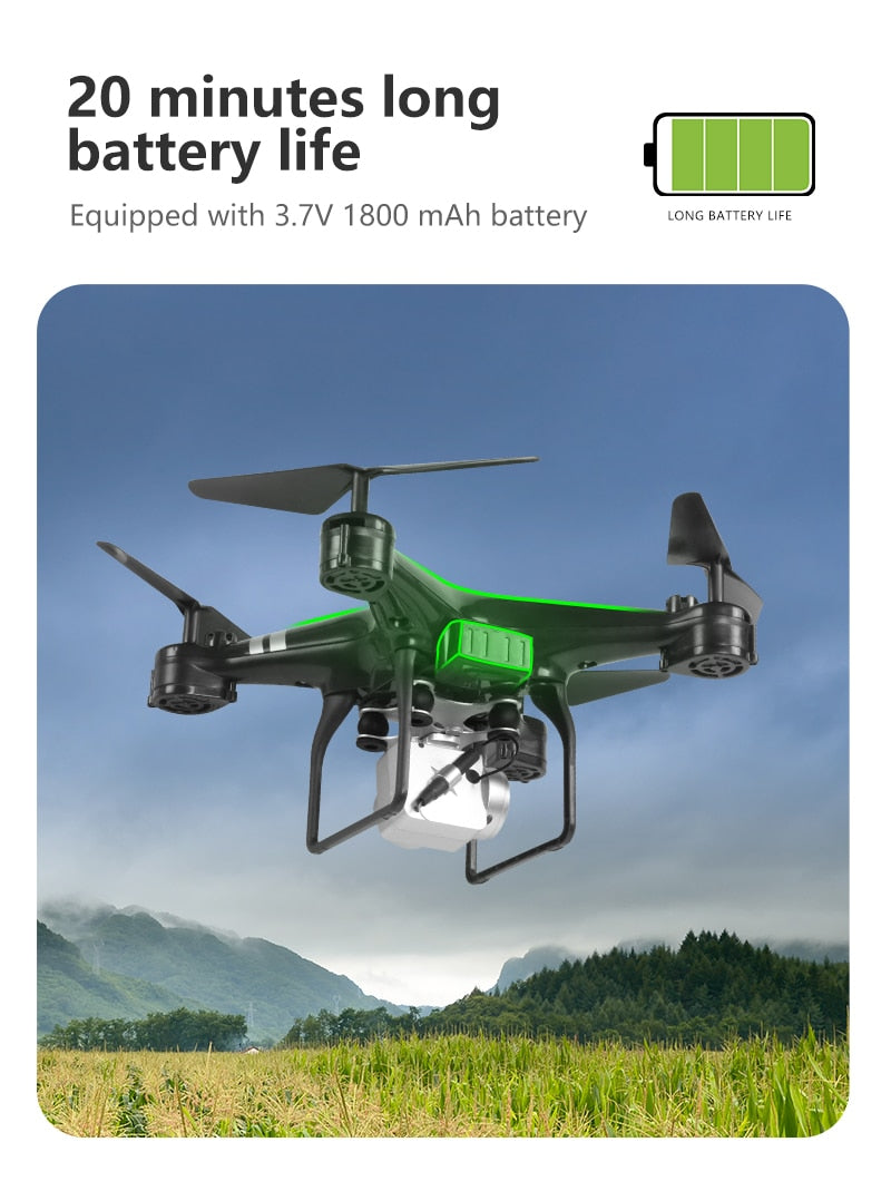 2019 New Drone 4k camera HD Wifi transmission fpv drone air pressure fixed height four-axis aircraft rc helicopter with camera