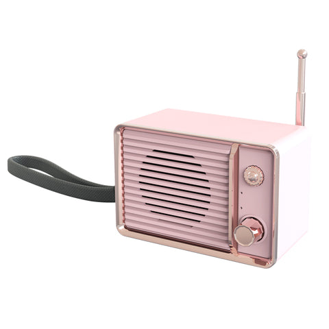 Image of Rechargeable Vintage Speaker with USB & Bluetooth Portable Classic Old Speakers