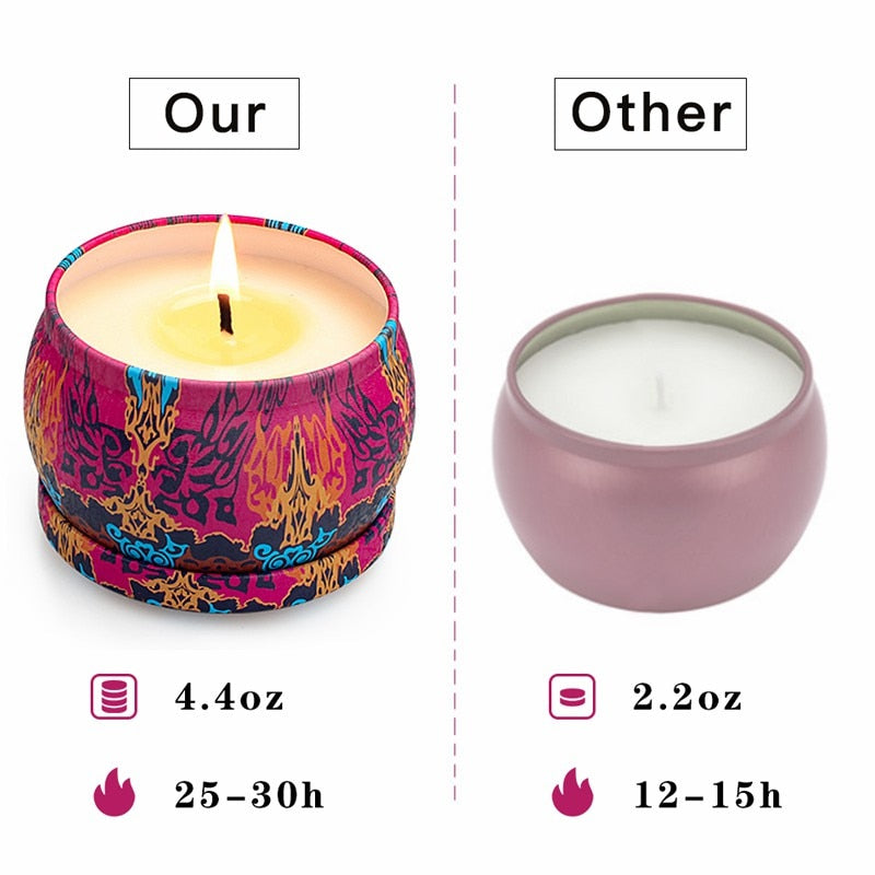 YINUO CANDLE 4 Pack Smokeless Scented Candles Soy Wax Handmade Aromatherapy Candles 4 Fragrance Decorative Candle Birthday Gift