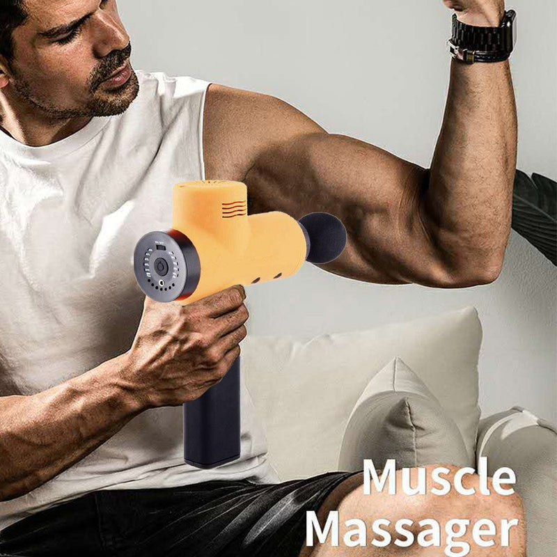 Percussive Massager Gun Vibrating Therapy Device 5 Stalls Multicolor Sports Bodybuilding Massage Body Muscles Durable Yoga