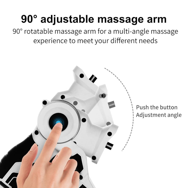 Handheld Rechargeable Percussion Massager Deep Muscle Stimulator Therapy Gun 6 speeds Vibration Device FOR Booster