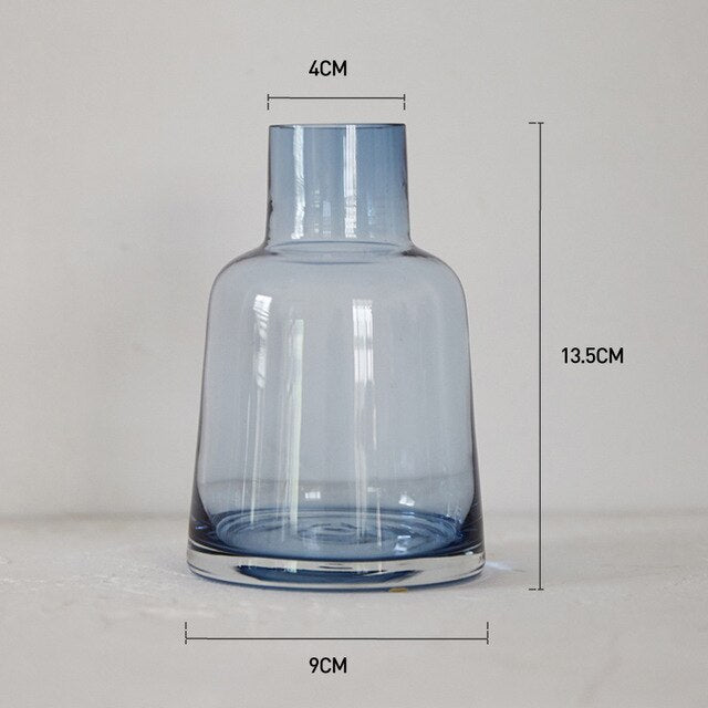 Lighthouse glass vase Gray/blue Castle Glass Handmade Small flower vases Hydroponics containers home office decoration