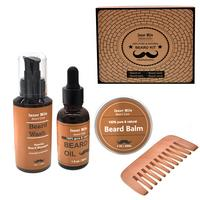 Men Beard Care Set With Scissor,Comb,Brush,Beard Oil,Styling Shaping Mustache Hair Growth Beard Styling Mustache Beard Care Kit