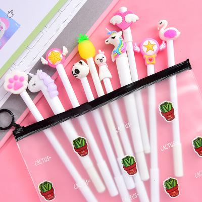 10Pcs/Set Gel Pen Unicorn Pen Stationery Kawaii School Supplies Gel Ink Pen School Stationery Office Suppliers Pen Kids Gifts