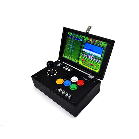 "Image of 10 "" Inch Pandora 6S Mini Arcade Console 1399 Games Zero Delay Joystick Buttons PCB Board Retro Video Game Box Arcade Machine"