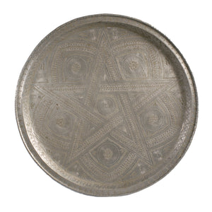Antique silver Moroccan tray C03