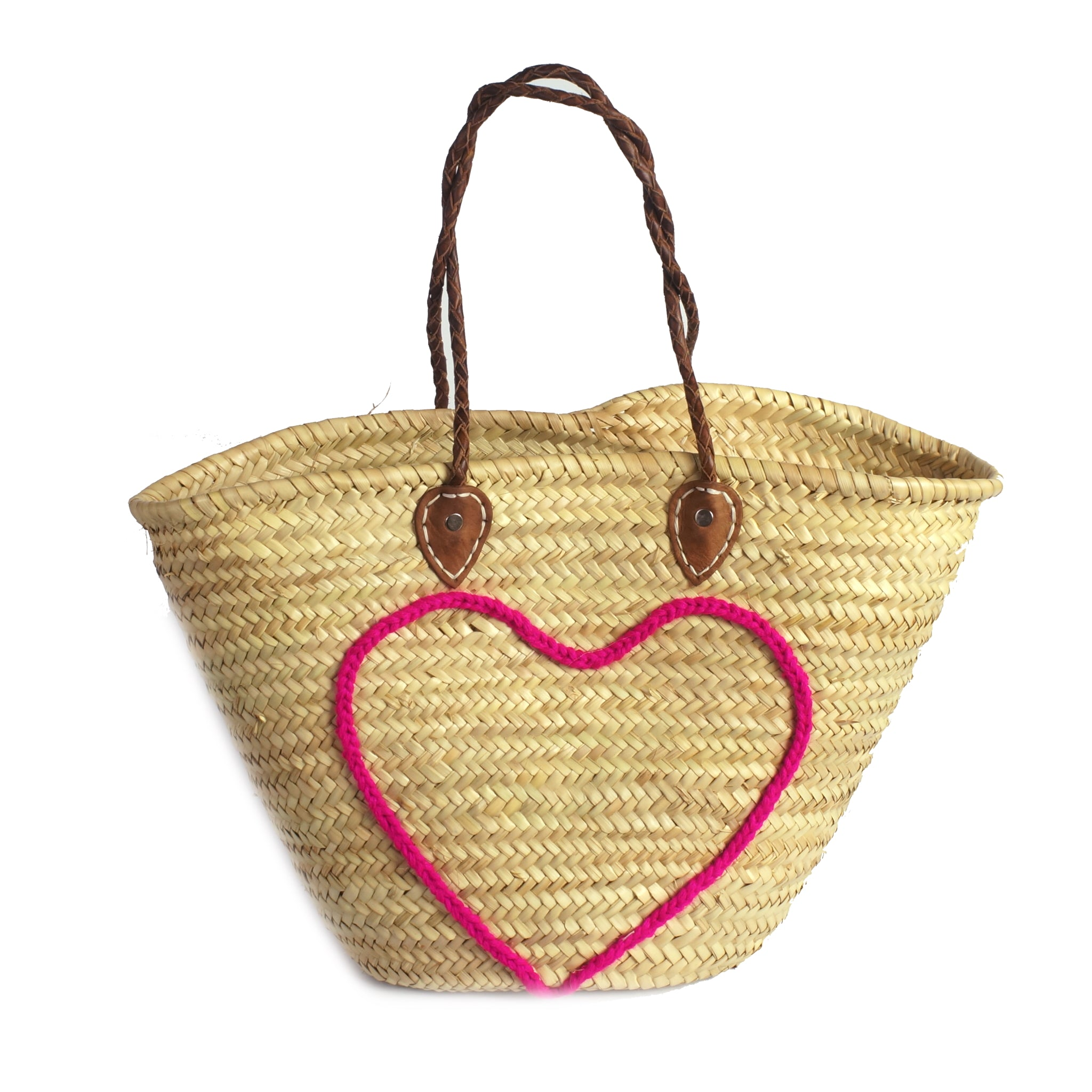 Basket shopping pink heart