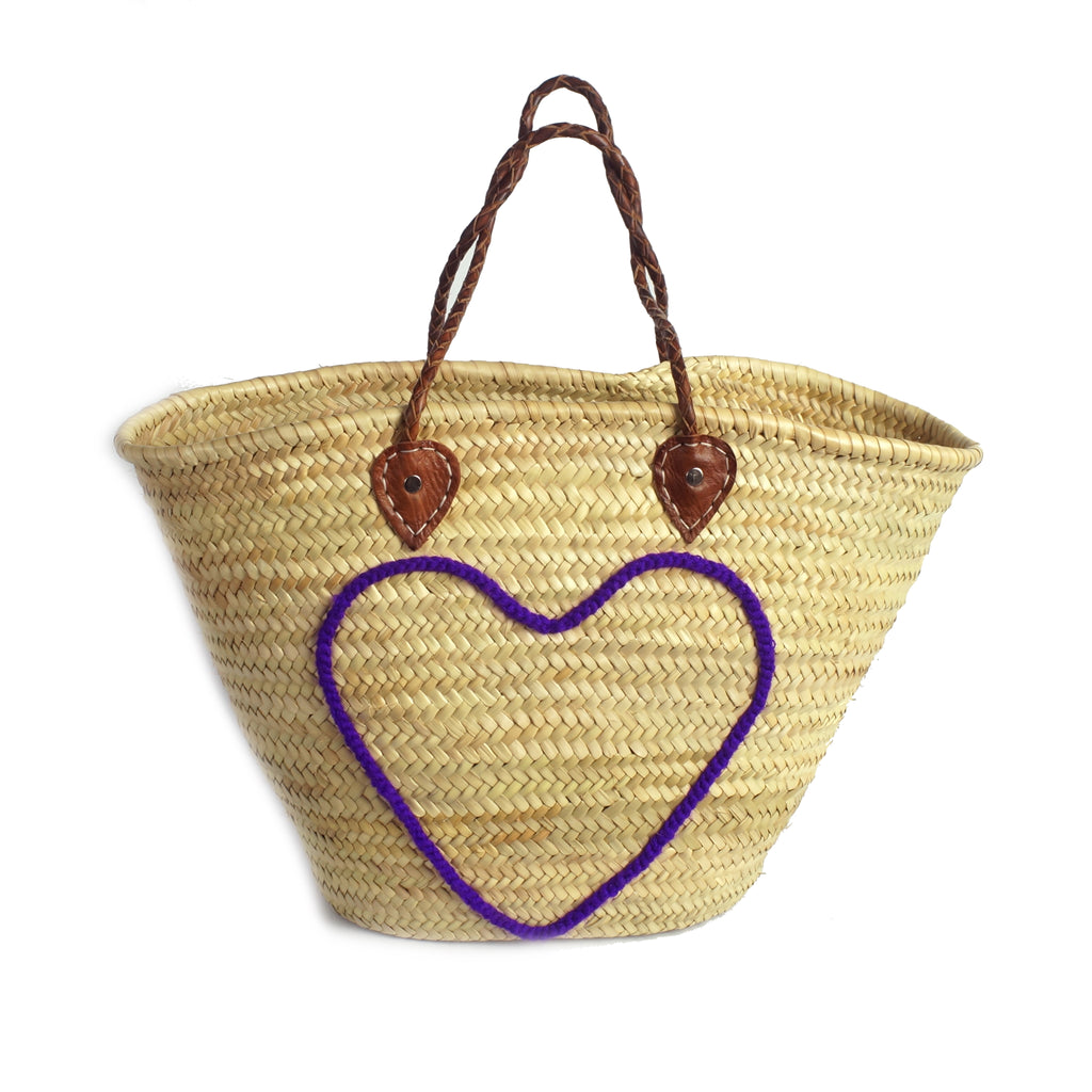 Basket shopping purple heart
