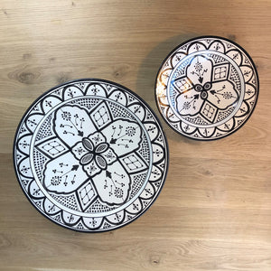 Moroccan black ceramic medium PLATE