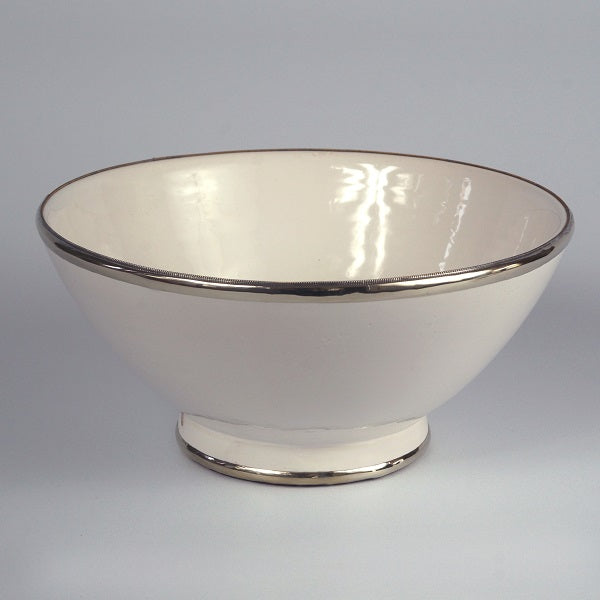 Moroccan white ceramic large BOWL