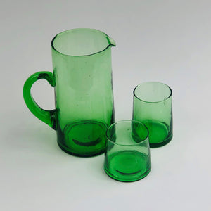 Moroccan recycled green glass Small