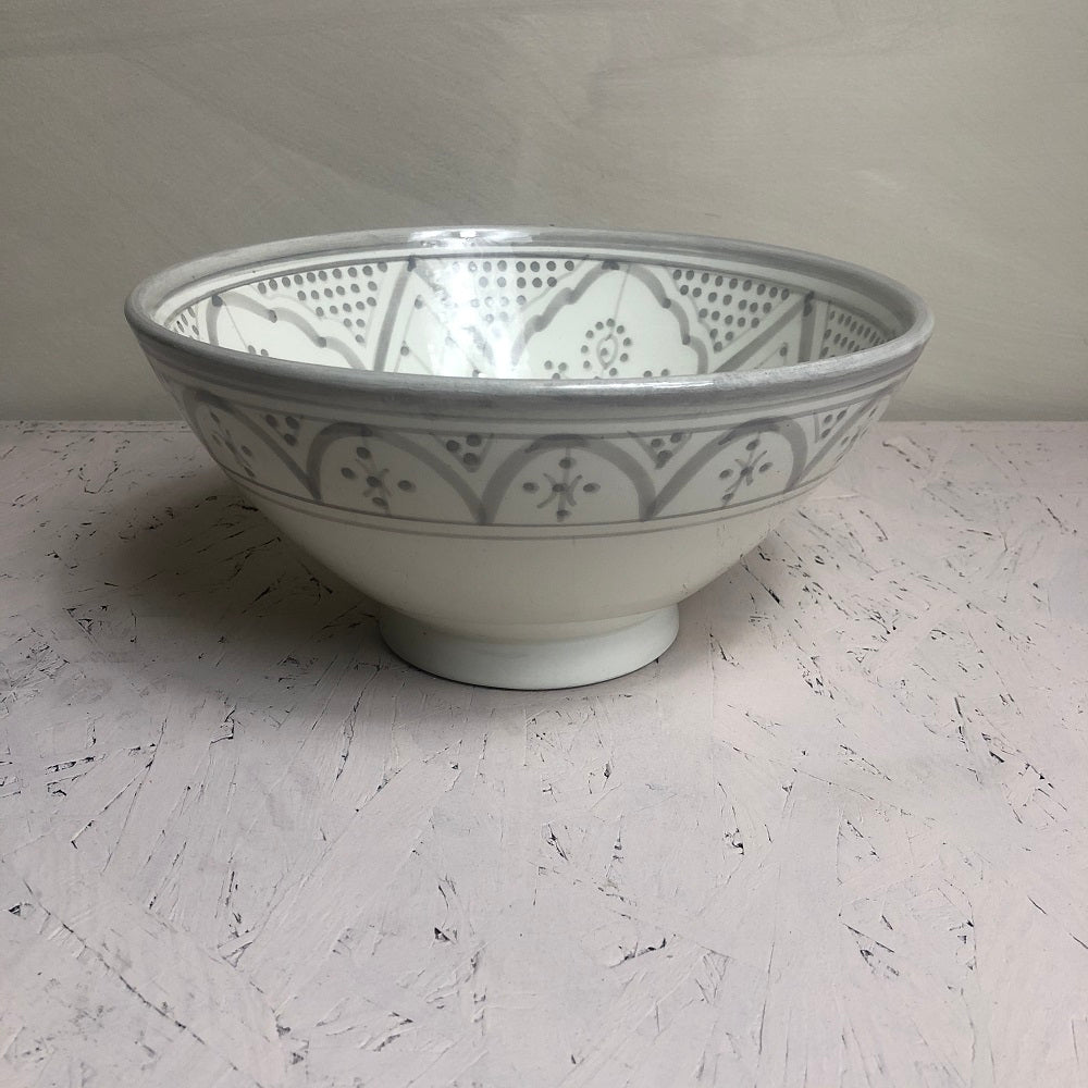 Moroccan grey ceramic large BOWL