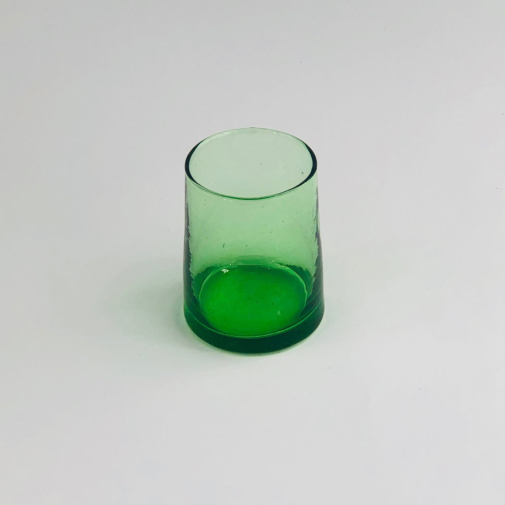 Moroccan recycled green glass Medium