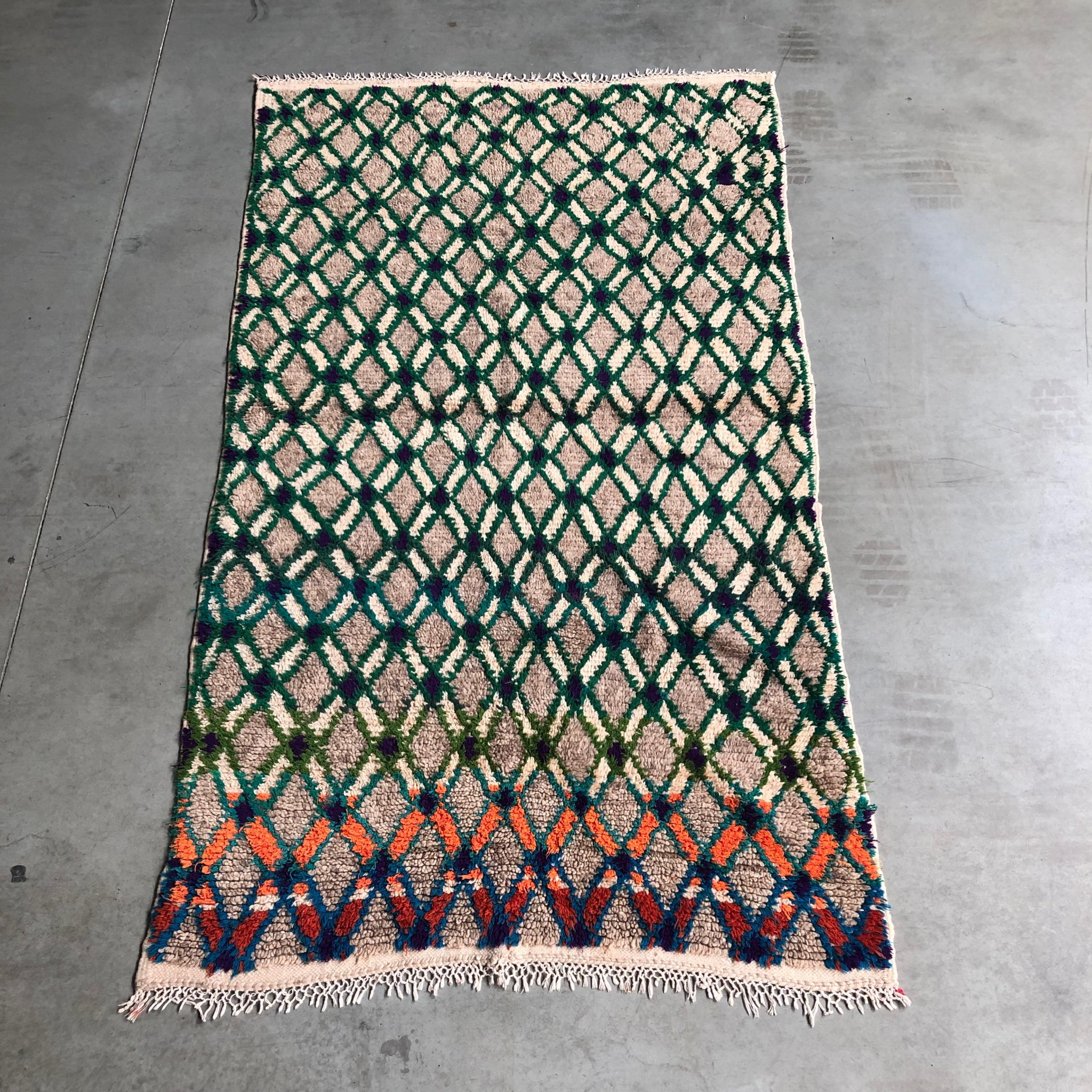 Berber carpet Green