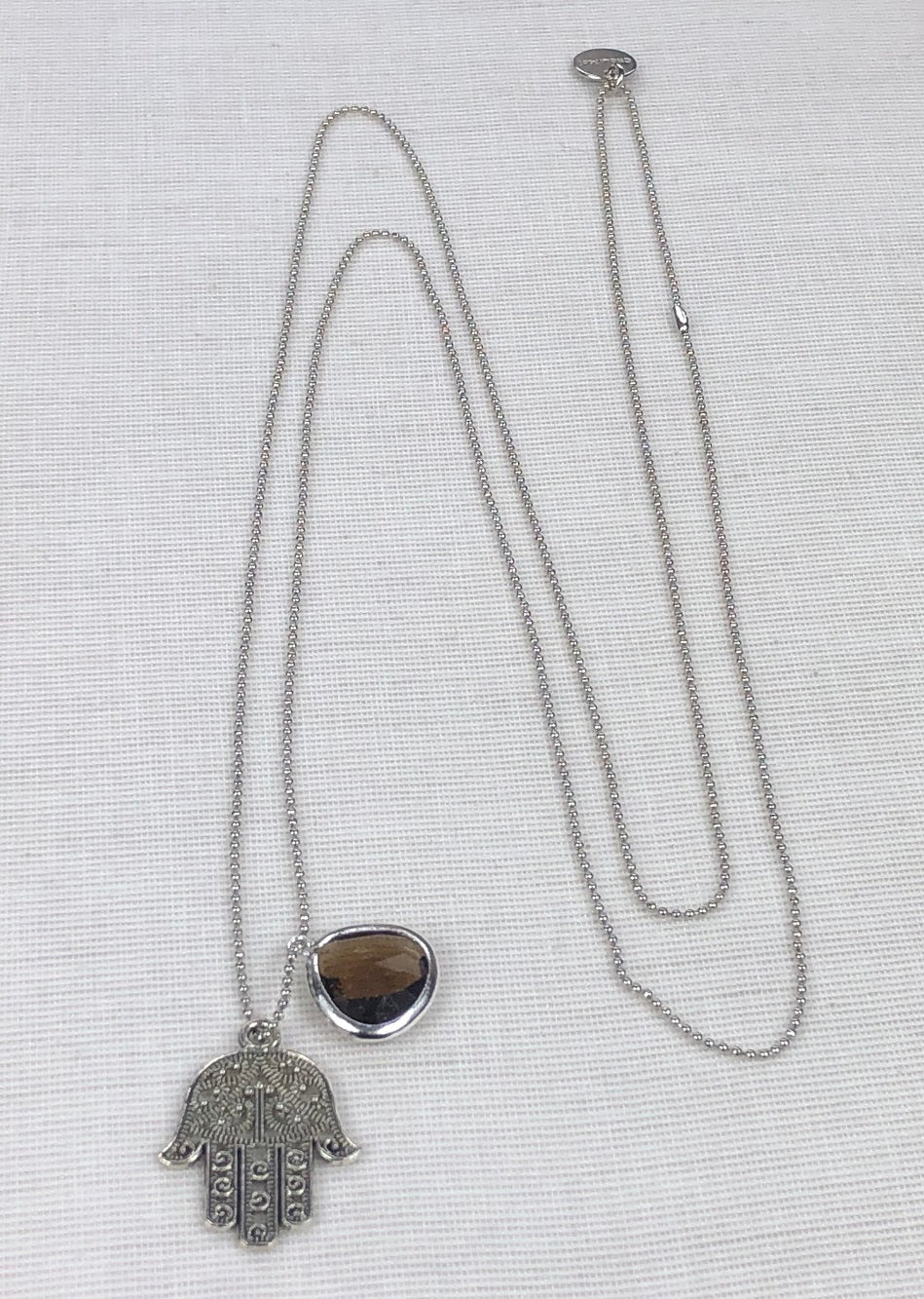 Long Necklace with HAND OF FATIMA pendant