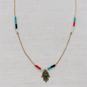 Necklace with HAND OF FATIMA pendant