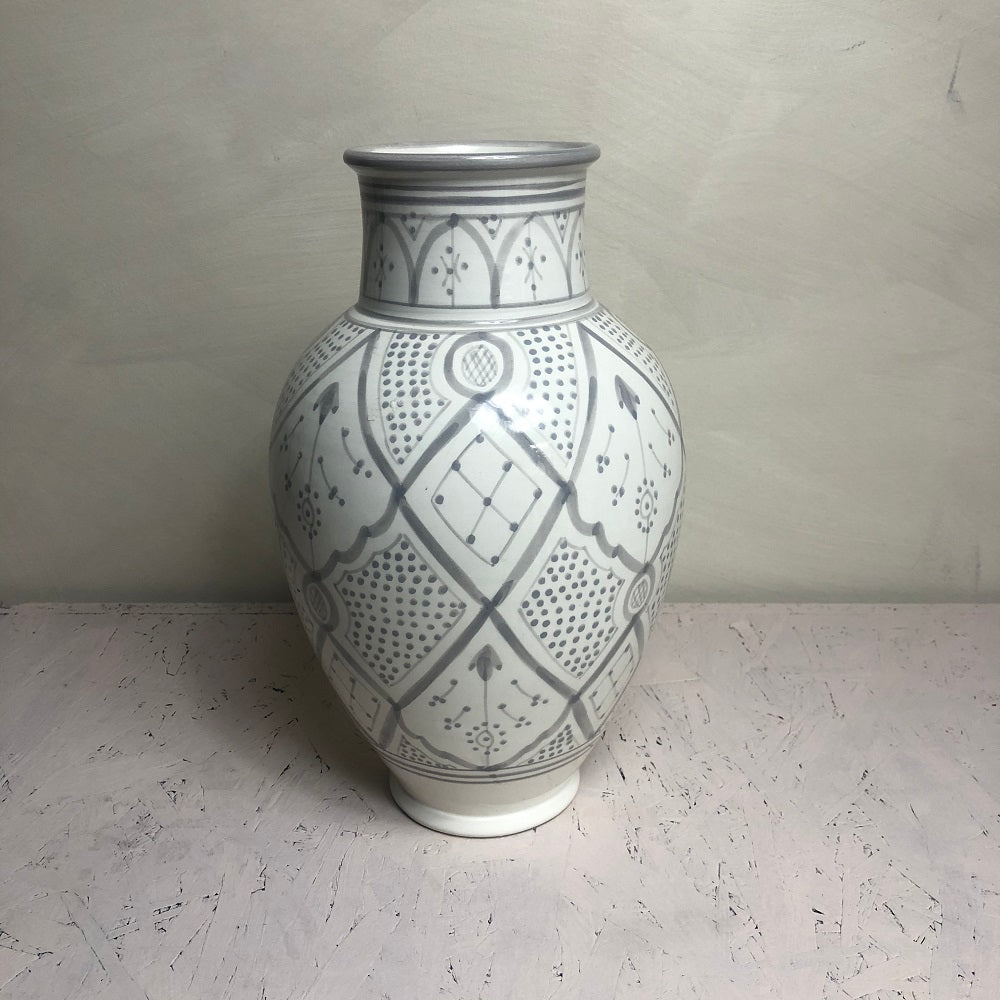 Moroccan  grey ceramic VASE SMALL OPENING