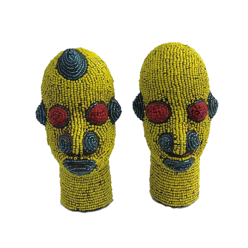 African Mask Yellow Couple