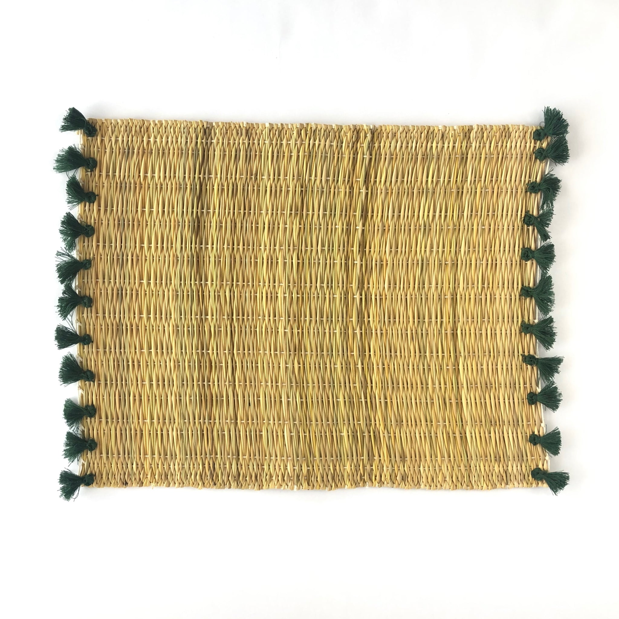 Straw and PomPom Placemats 4pcs