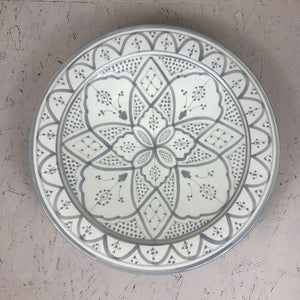 Moroccan grey ceramic Large PLATE