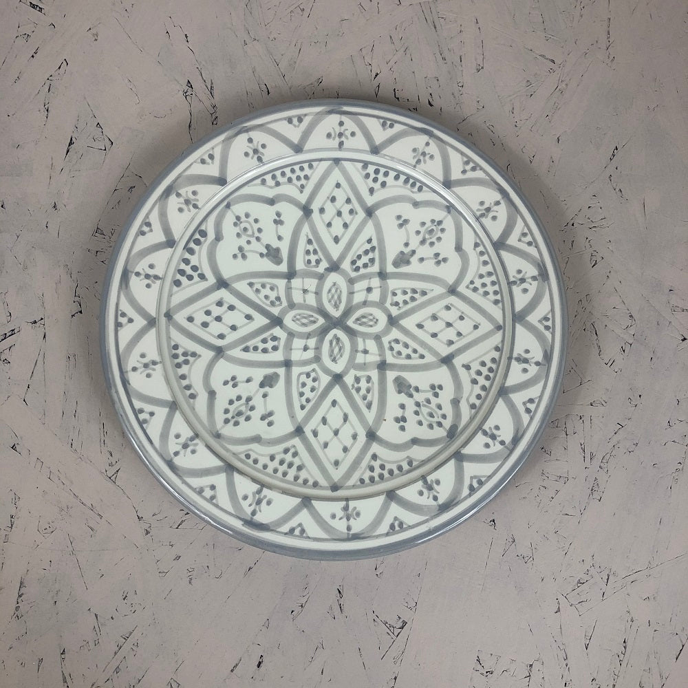 Moroccan grey ceramic medium PLATE