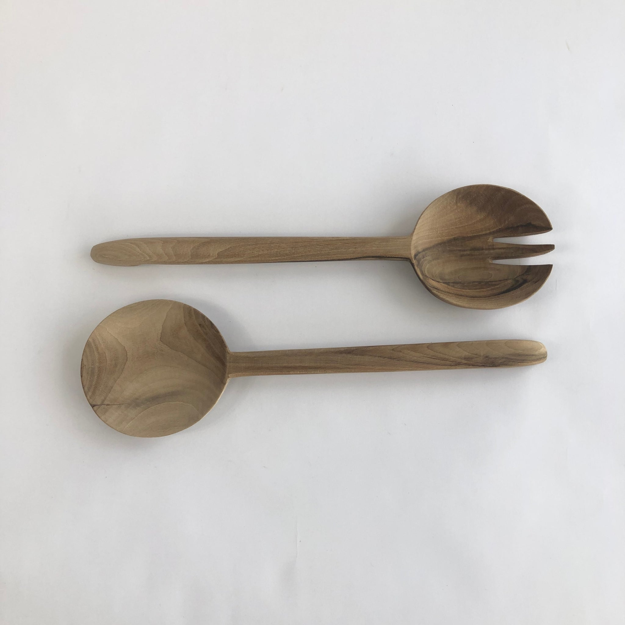 Salad Cutlery by pair Walnut wood