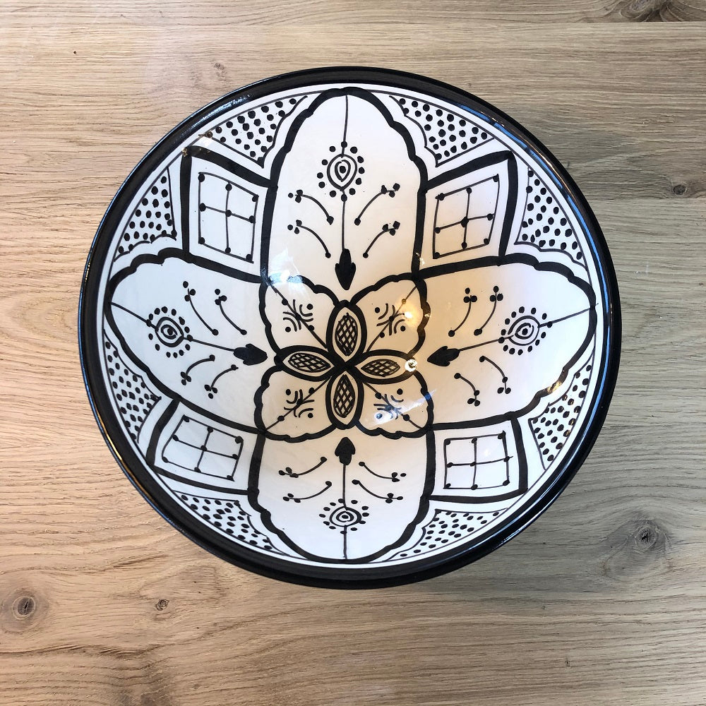 Moroccan black ceramic large BOWL