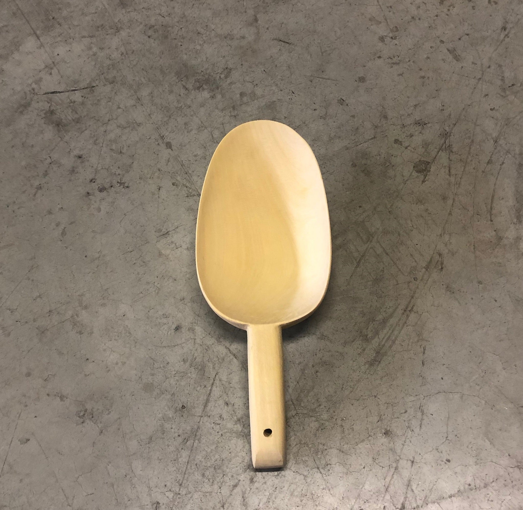 Scoop spoon in wood