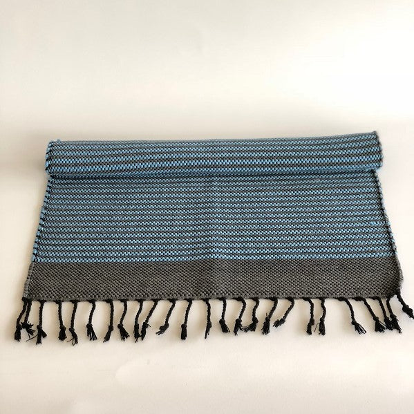cotton bathmat Black/Blue
