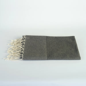 Hammam towel 100x180cm Black/Brown