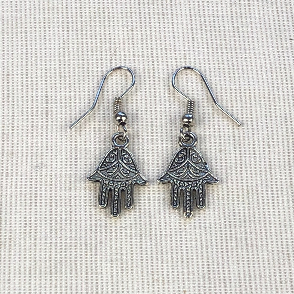 Earrings with HAND OF FATIMA